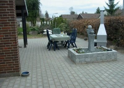 Ny flise terrasse i odense