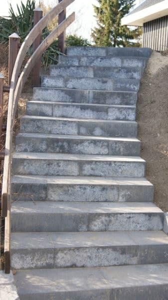 Stor trappe som drejer